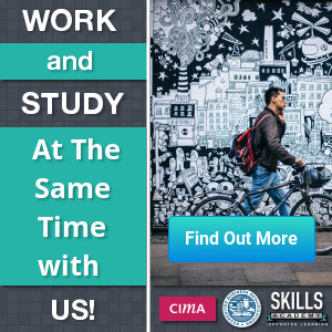 Work and study at the same time with us banner ad