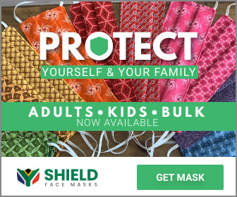 Advert for shield face masks